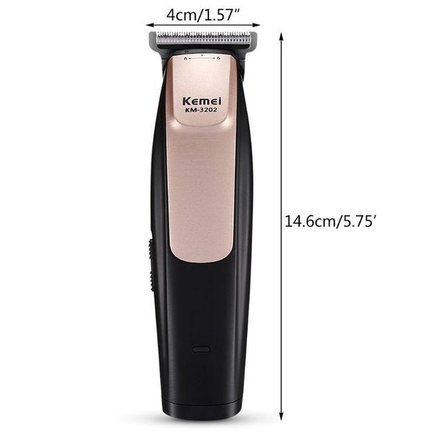 Kemei KM   3202 USB قابلة للشحن الكهربائية مقص الشعر المتقلب تصفيف الشعر صالون حلاقة المنزل