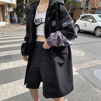 Long Coats and Jackets for Women Fall and Winter Clothing Womens Korean Fashion Trench Coat and Oversized Windbreaker Streetwear 2020 fashion female women s clothing new slim style in korean version long sleeve coats and jackets