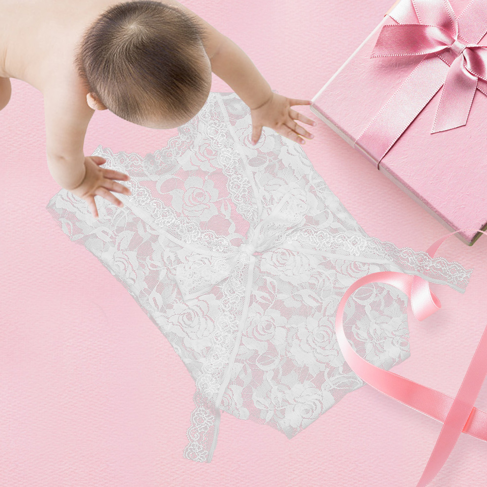 New Newborn Photography Props Baby Girl Lace Romper Infant Photo Shoot Clothes Photo Props Baby Newborn Infant Photo Shoot