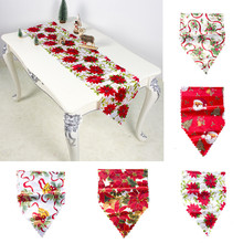 Runner-Printed Tablecloth Placemat Christmas-Decoration Hotel Polyester Home for 180x30cm