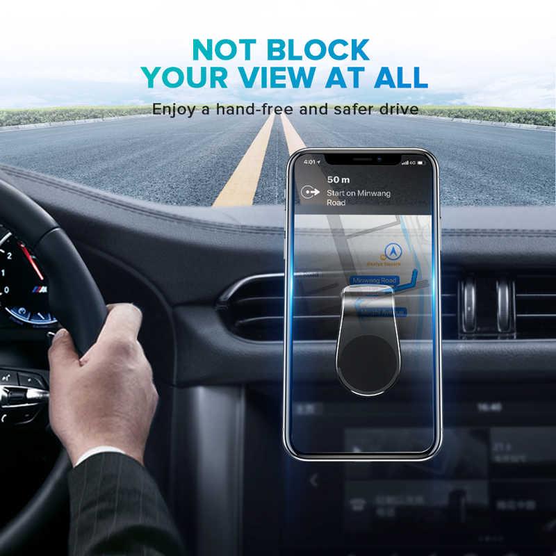 GETIHU metalowy samochodowy magnetyczny uchwyt na telefon mini odpowietrznik zacisk mocujący magnes mobilny stojak na iphone'a XS Max smartfony xiaomi w samochodzie