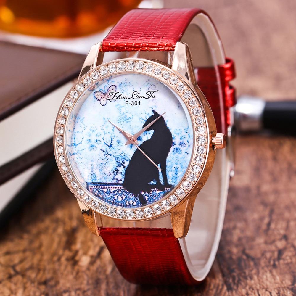 Luxury Brand Leather Quartz Relogio Feminino Masculino Women's Watch Ladies Fashion Watch Women Wristwatches Clock Ceasuri Cat&5