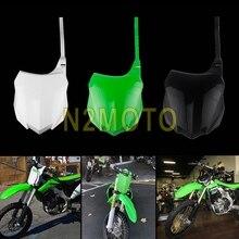 Для 2013 Kawasaki KX250F MX Enduro Dirt Bike Передняя пластина Номера для Kawasaki KX450F KXF 250 450 2013- пластиковая пластина номера