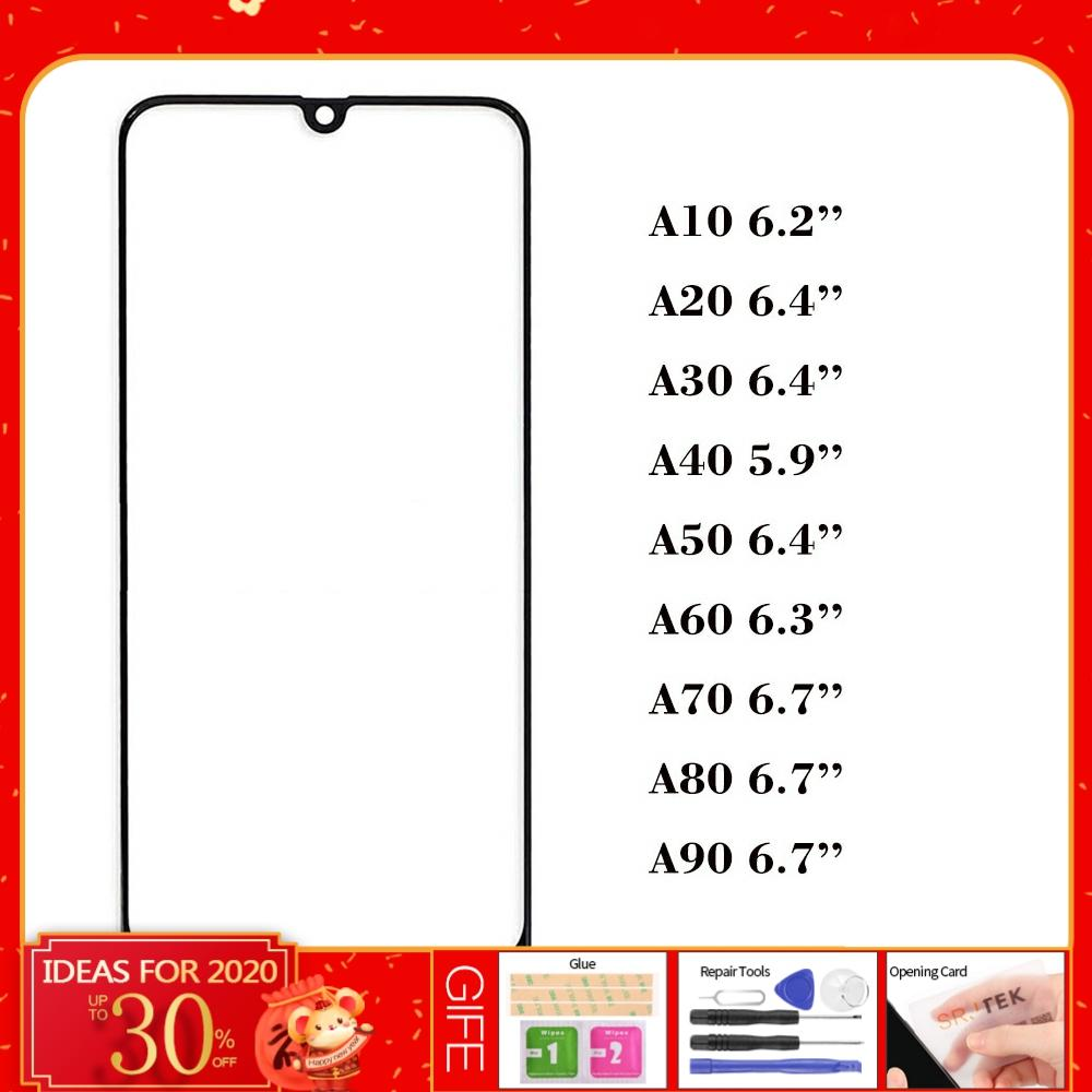 Original For Samsung Galaxy A10 A20 A30 A40 A50 A60 A70 A80 A90 LCD Touch Screen Front Outer Glass Panel Not LCD Display Sensor image