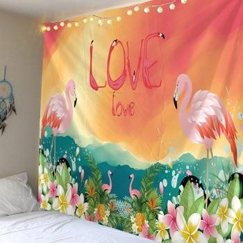 Flamingo Love  Liebe Schlafzimmer Wandbehang