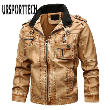 Mens Leather Jackets 2020 Autumn Winter New Casual Motorcycle PU Faux Leather Jacket Male Biker Leather Coats Windbreaker Jacket mens leather jackets 2020 autumn winter new casual motorcycle pu faux leather jacket male biker leather coats windbreaker jacket