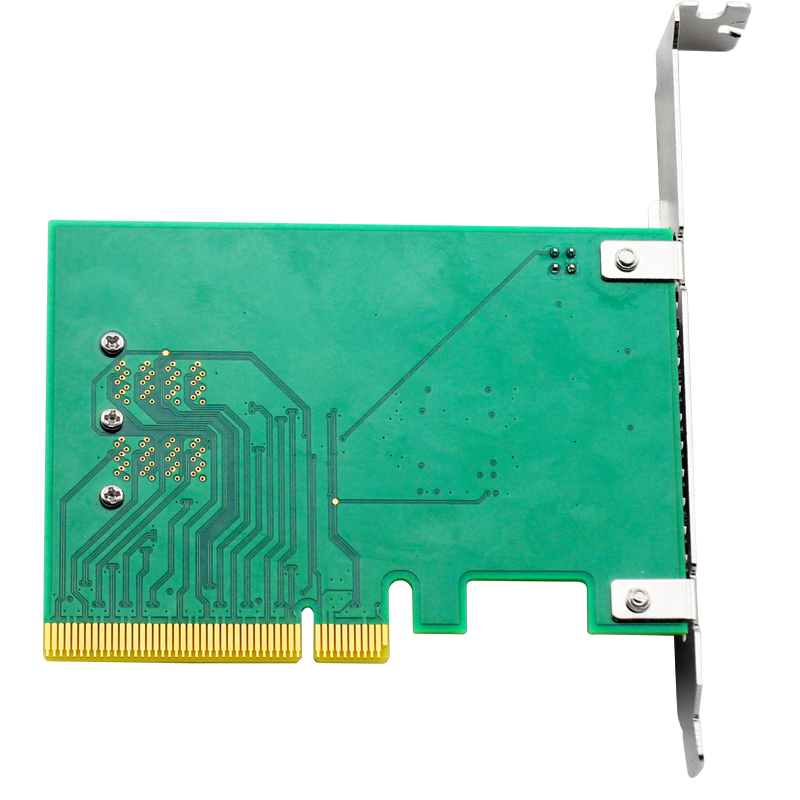 Image 2 - UNICACA ANU22PE08 SFF8643*2 PCIe3.0 X8 12Gb/s U.2 exp rise adapter (support nvme device ) with cable*1-in Add On Cards from Computer & Office