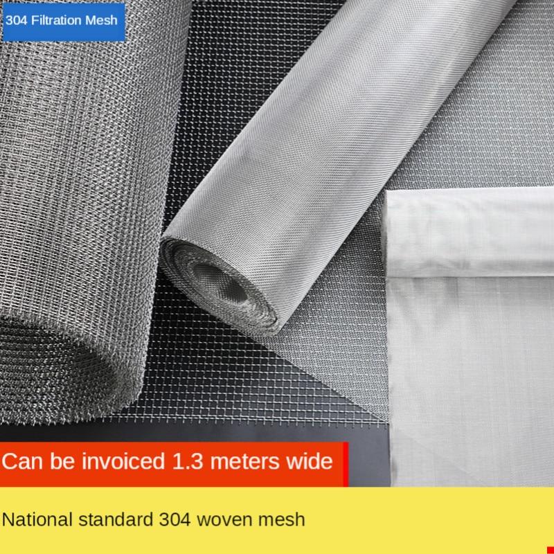 Высокое качество 50 сетка фильтрации сетка 304 из нержавеющей стали сплетенная проволока Серебряная фильтрационная ткань экран 50x100 см