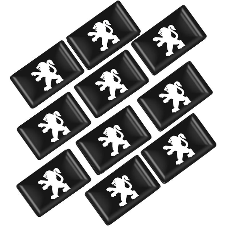 10pcs Car Styling Small Decorative Badge Hub Caps Steering Wheel For Peugeot 206 207 208 307 308 Peugeot 406 407 508 2008 3008