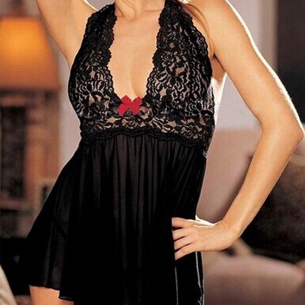 M XXL XXXL Sexy Lingerie Women 2pcs Lace Night G-string and Dress Sexy Underwear Babydoll Sexy Hot Erotic Dress Plus Size