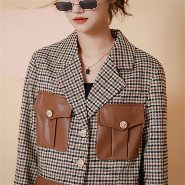 Купить шикарная универсальная клетчатая куртка в английском стиле с картинки цена