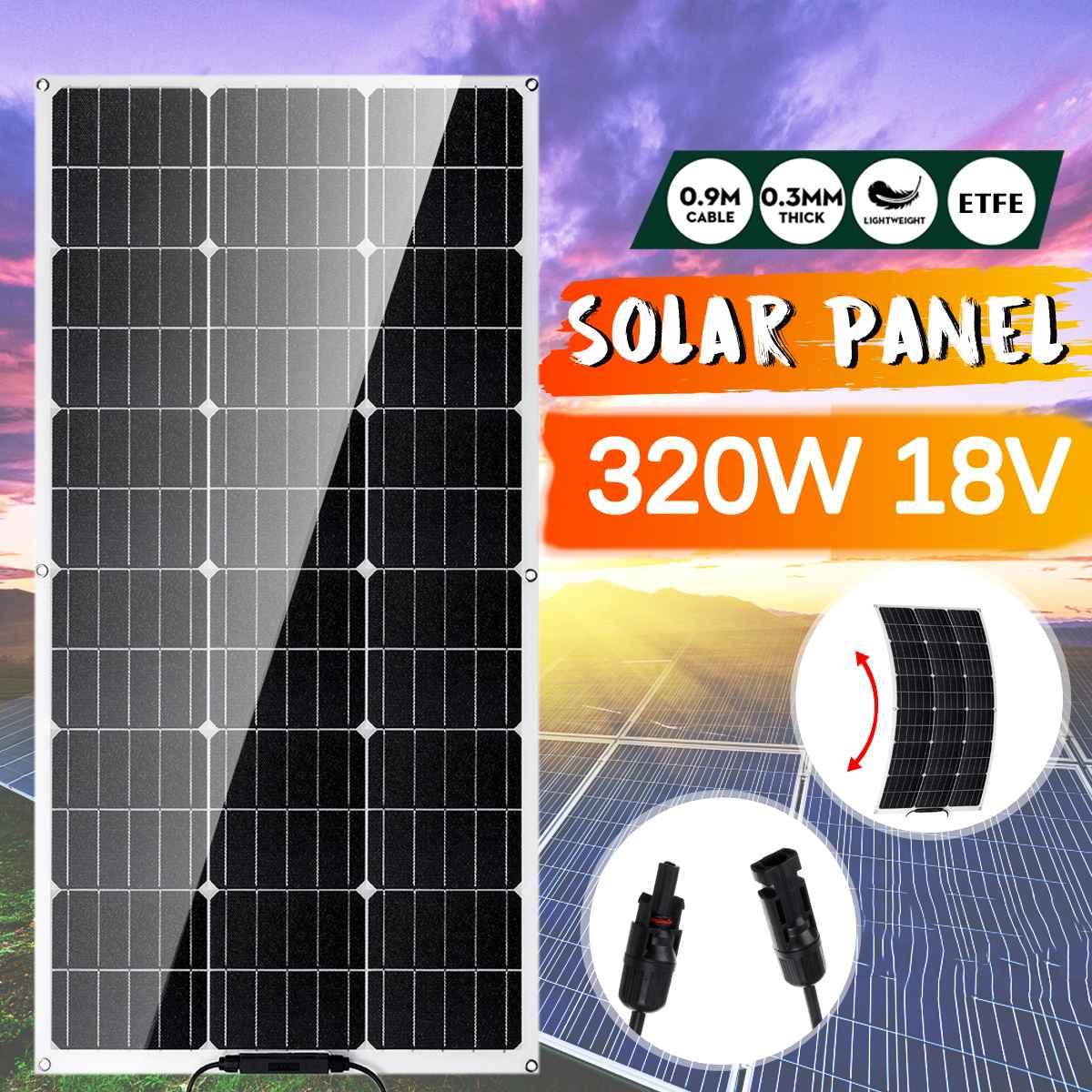 320w semi flexivel painel solar celula solar monocristalina de 18 volts para carro iate luz rv