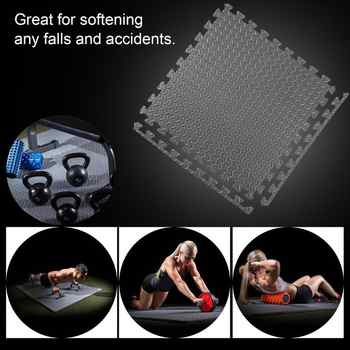 60*60cm EVA Leaf Grain Floor Mats Gym Floor Mat Splicing Mats Patchwork Rugs Thicken Shock For Gym Fitness Room Workouts