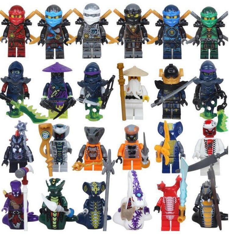 10 ชุด = 240PCS 31035 เด็กของเล่น Super Heroes Lloyd ASH Master Vermin Sensei Wu Wei งู Bronk Zane ของขวัญ-ใน บล็อก จาก ของเล่นและงานอดิเรก บน   1