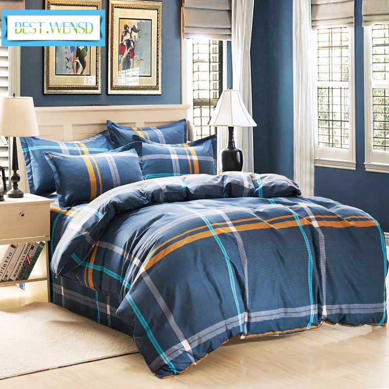BEST.WENSD luxury comforter set Bed Linen 4Pc Bedding Sets Duvet Cover Bed Sheet Pillowcase Twin Full Queen King Size bedclothes