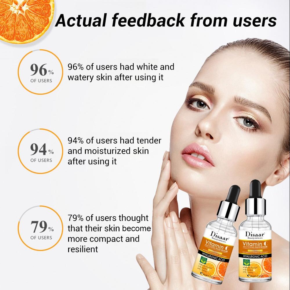 Vitamin C Facial Serum Anti Wrinkle Aging Essence Skin Whitening Freckle Creams Moisturizing Face Care Hyaluronic Acid Cream 4