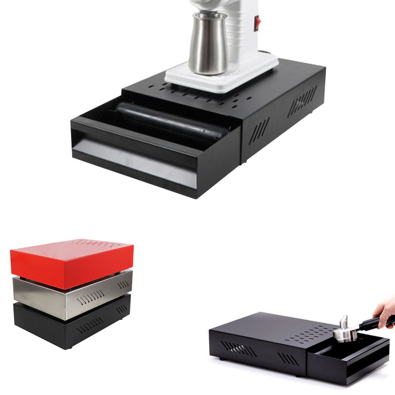 Professional Stainless Steel Coffee Espresso Grounds Residue Knock Box Drawer Style For Barista Coffee Bar Grounds Container