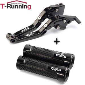 Image 5 - Motorcycle Handle grips handlebar grip & Extendable Brake Clutch Levers For Yamaha tenere1200 Tenere 1200 XT1200Z