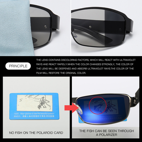 SIMPRECT 2019 Photochromic Square Sunglasses Men Polarized UV400 Sun Glasses For Driving Fashion Retro Sunglasses Vintage Oculos Islamabad