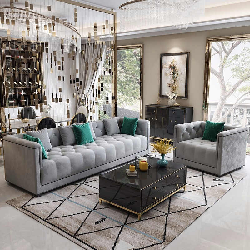 Hot Sale Velvet Sofa Living Room Furniture Luxury Sofa Set Living Room Sofas Aliexpress