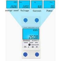 Home LCD Digital Display Power Consumption Meter Single Phase Energy Meter Watt Wattmeter kWh 230V AC 50Hz Electric Din Rail