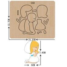 Новый Ангел деревянные штампы скрапбукинга C 43 резки