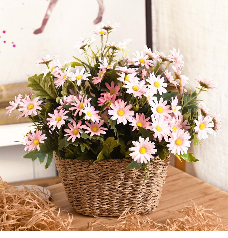 flores artificiais daisy flor campo rural flor sala de estar decorado fotografia aderecos tema pastoral tiro