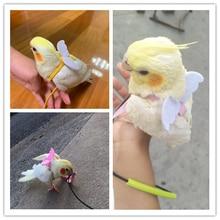 Ручной попугай Летающий поводок животное птичий Канат с крылом для маленького попугая Cockatiel солнце попугай монах длиннохвостый попугай Попугайчик Летающий костюм