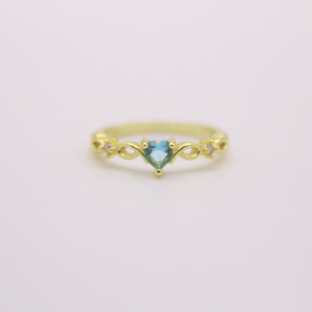 New Fashion Twist Classical Heart Wedding Rings Women Blue Rhinestone elegant Engagement Rings Tiny Vintage Ring gift jewerly