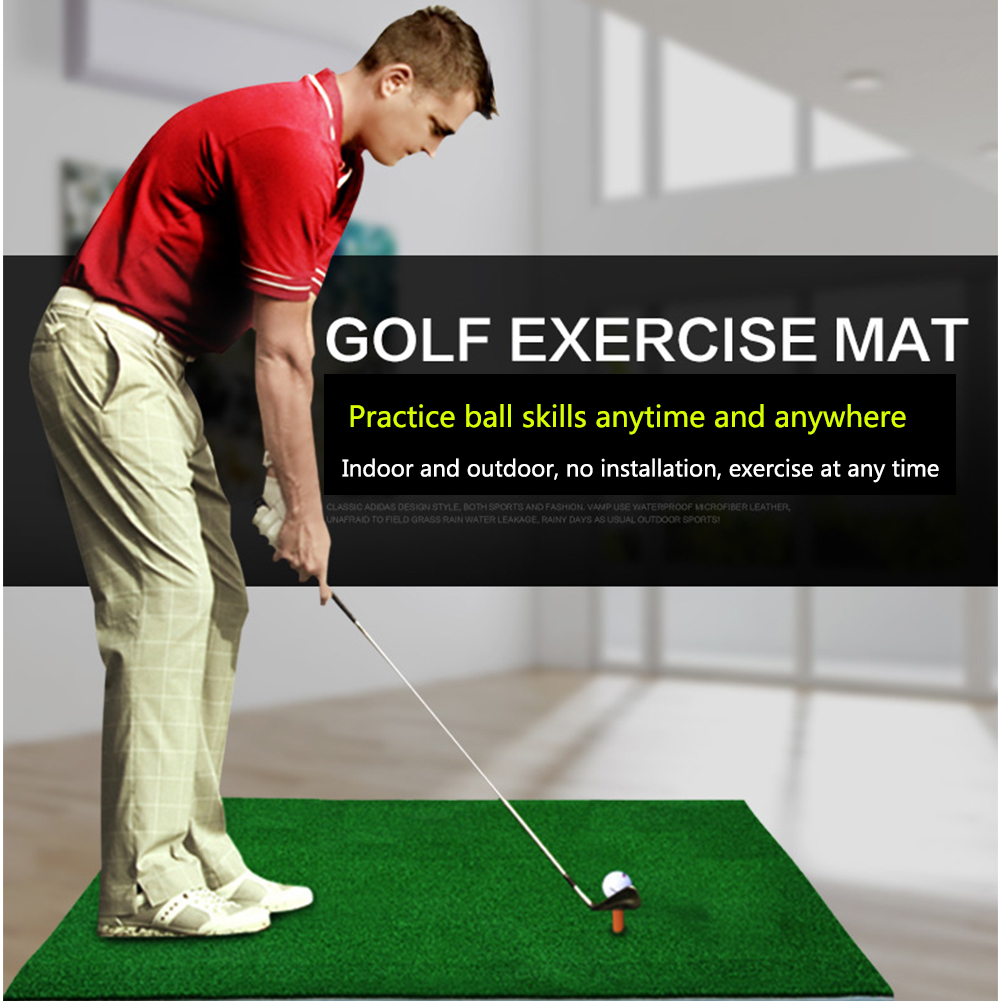 Sports Practice Mat Artificial Grass Backyard Golf Exercise Hitting Pad Foldable Indoor Swing Training Beginner Home Equipment
