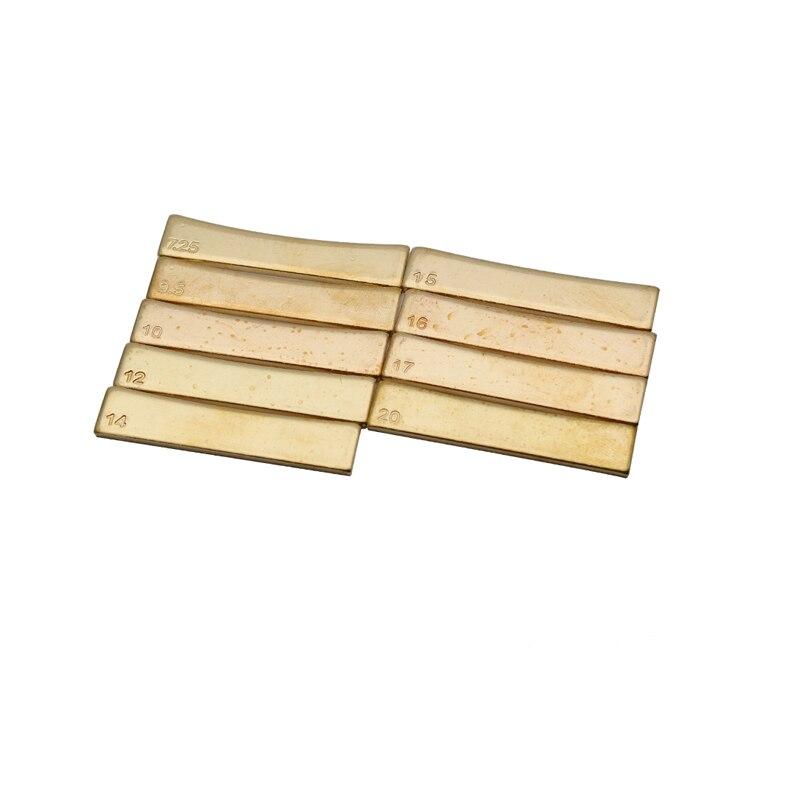 Golden Guitar 10 Radius Griffbrett Bundpresse Caul Insert für Gitarrenbauer