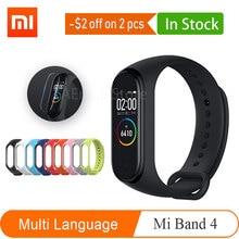 Przedsprzedaż 2019 wersja globalna Xiao mi mi Band 4 Smart mi band 4 bransoletka tętno Fitness Bluetooth5.0 135 mAh kolorowy ekran