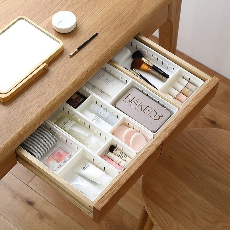 Cosmetics Organizer Home Office Storage Kitchen Bathroom Closet Desk Box Drawer Organization Tray Cutlery Stationery Storage Box