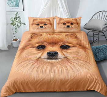 Haguyy 3D Bedding Set Cartoon Dog Duvet Cover Pillowcase Sets Europe  USA AU Queen King Full Double Size Home Textile