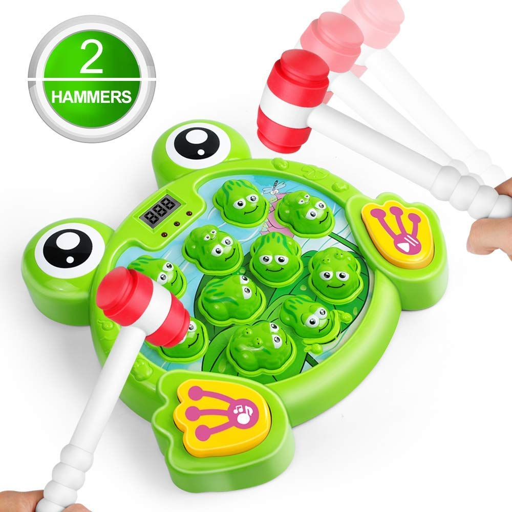 Interactive Whack A Frog Game Durable Pounding Toy Early Developmental Toy Helps Fine Motor Skills, Great Gift For Kids