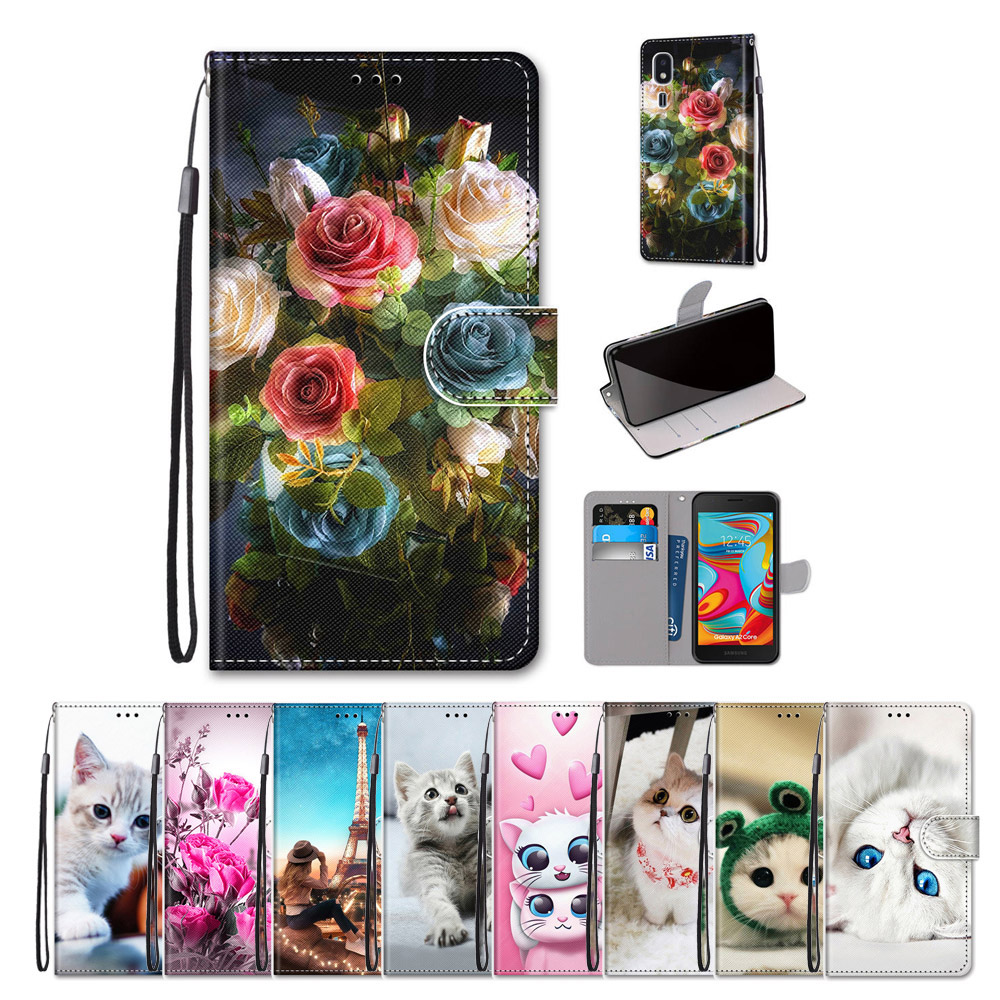For Samsung Galaxy A2 Core A3 A3 <font><b>2016</b></font> Case Flip PU Leather Animal Patterned For Samsung Galaxy <font><b>A5</b></font> <font><b>A5</b></font> <font><b>2016</b></font> <font><b>A5</b></font> 2017 Cover Bumper image