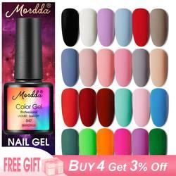 MORDDA 8 мл Гель-лак УФ светодиодный лак для ногтей для маникюра 60 цветов гель полуперманентный лак гель краска для ногтей инструменты для