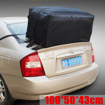 100X50X43cm Car Roof Top Bag Roof Top Bag Rack Cargo Carrier Luggage Storage Travel Waterproof SUV Van for Cars image