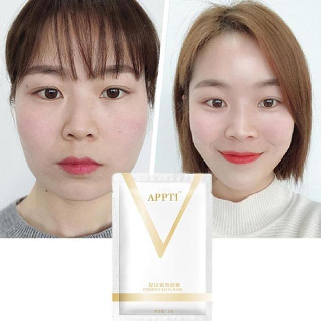 1PC V Face Lifting Facial Wrapped Masks V-Shaped Slimming Thin Face Mask V Bandage Mask Skin Treatment Double Lift Peel-off Chin 4