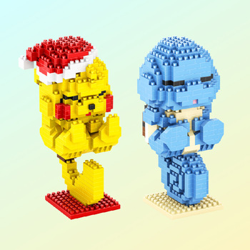 547pcs+ Pokemoned Mirco Blocks Cute Sleeping Pikachuly Charmander Squirtle Anime Building Bricks Figures Toys For Children 2
