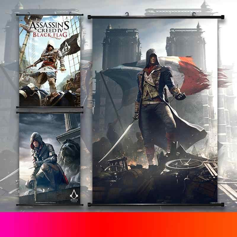 Assassins Creed Star Wars My Hero Academia Scroll Painting Anime