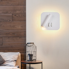 Led Lights Reading Wall Lamp Black White Aluminum Modern for Bedroom Home with Switch Rotatable Adjustable