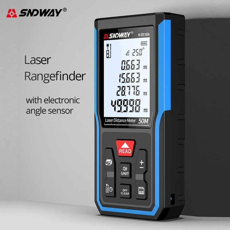 Sndway new start laser abstand meter elektronische roulette laser-entfernungsmesser 50M 70M 100M 120M laser band messen range finder