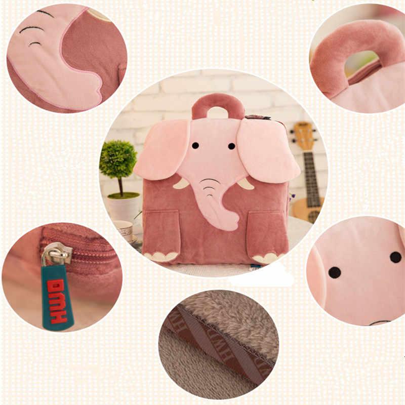 フランネルクッション毛布 ac ルームオフィスシートクッション漫画の動物柄椅子 Lumar 枕 35*40 センチメートル (クローズ) /110*150 センチメートル (オープン)