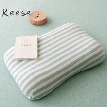 Travel Sleeping Memory Foam Pillow And Japanese-style Tianzhu Cotton Stripe Pillow Cover For Sleeping Fresh Bedroom Decoration