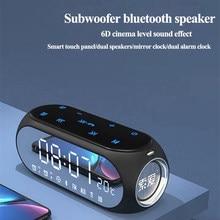 Display led alto falantes portáteis coluna bluetooth subwoofer ao ar livre sem fio toque inteligente duplo diafragma música soundbar para casa
