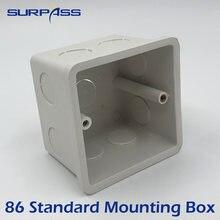 Caixa interna ajustável 80mm x 80mm x 57mm da gaveta da caixa de montagem do padrão 86 para 86 tipo interruptor e caixa de fio do painel da música do amplificador da parede