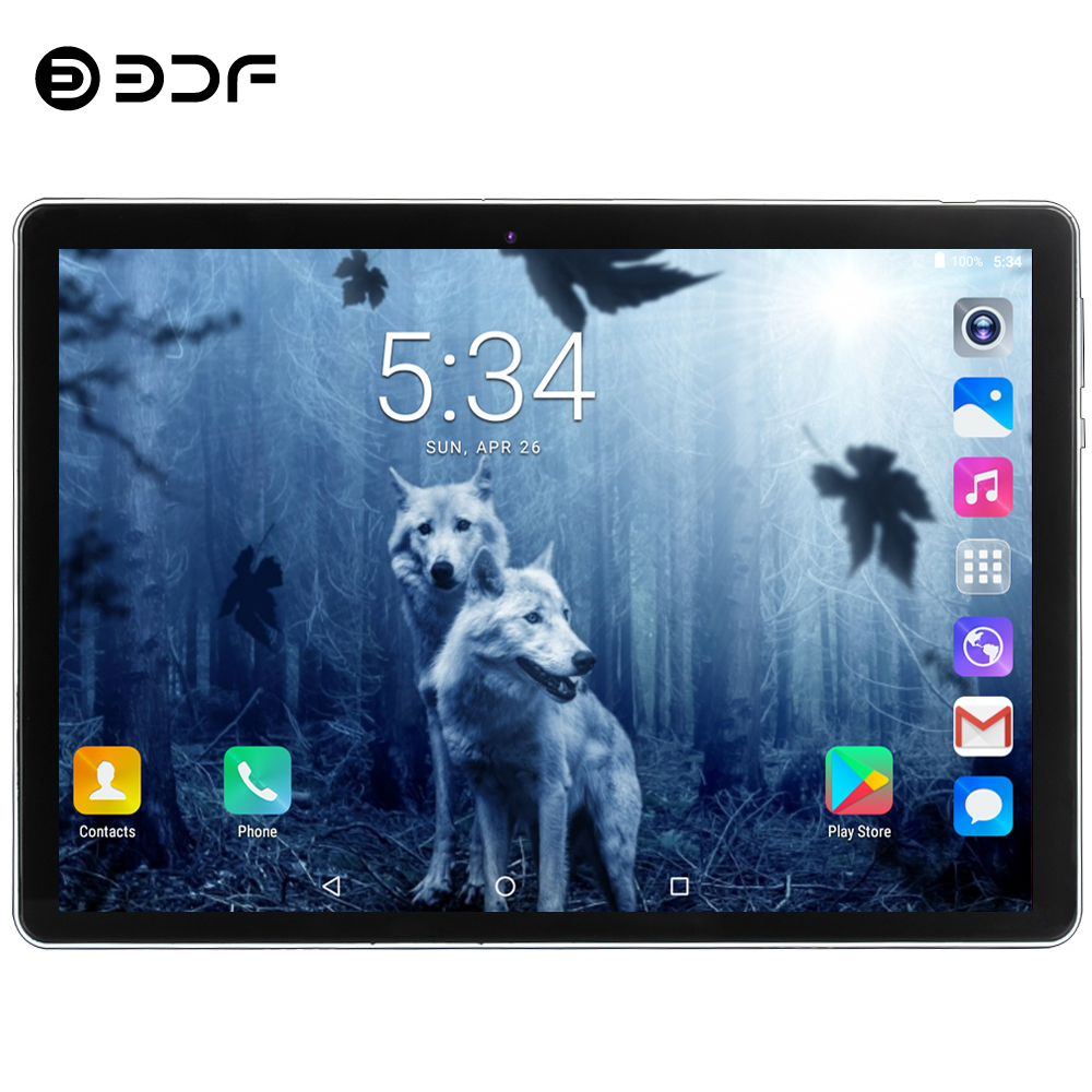 BDF 2020 New Tablet Pc 10.1 Inch Android 7.0 Google Play 3G Phone Call Tablets WiFi Bluetooth 2.5D Tempered Glass 10 Inch Tablet