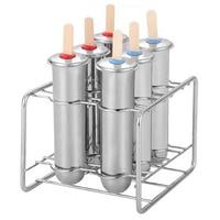 Stainless Steel Popsicle Mold Ice Cream Stick Brush Home Diy Fruit Innovation Ice Tube Mold