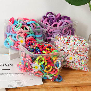 Girl Candy Color Hair bands Small Elasticity Rubber Band Nylon Thickened Headband Children Ponytail Fixer baby Accessories - discount item  40% OFF Headwear